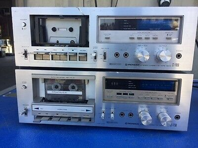 Lot Of 2 Pioneer Stereo Cassette Tape Deck Ct-F650 And Ct-F750 For Part Or Repai