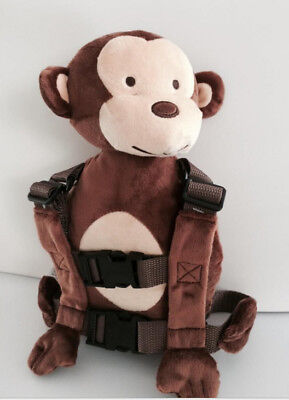 Safety Harness Strap Baby Toddler Walking Backpack Reins Bag Monkey New