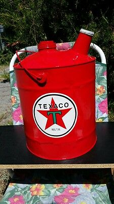 Vintage 5 Gallon Texaco Gas and Oil Can (#1 OF 7)