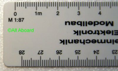 Peter Post - Tools - Modelling - 07999 - Scale ruler track Z, N, H0