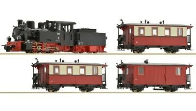 ROCO-31028-Digital Starter Set Narrow Gauge steam locomotive with tenr and passe