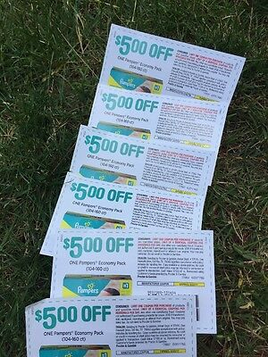 Pampers Diapers Coupons (6) $5 Off A Box (104-160 Count) $30 Total Savings!