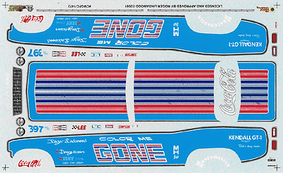 1473 Slixx Decals, Color Me Gone, Drag Racing, 1:24 scale waterslide, Brand NEW