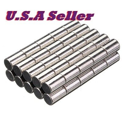 25pcs N52 6mm x 10mm Cylinder Shape Round Strong Rare Earth Neodymium Magnets