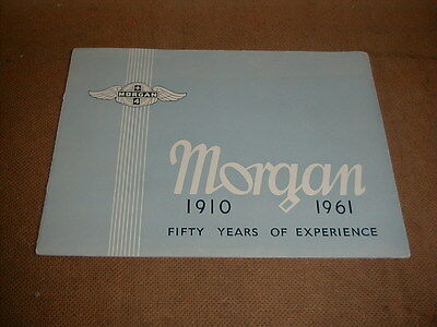 Morgan Brochure 1960  1961  Four Models with prices, specifications and photos