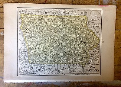 Antique Map of Iowa 1904 by Rand, McNally & Co.