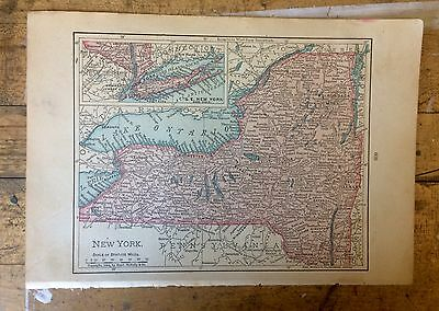 Antique Map of New York 1904 by Rand, McNally & Co.
