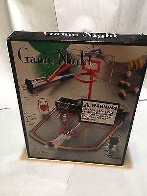 Game Night Basketball Shots Drinking Game Pre Owned. 6 Shot Glasses Included