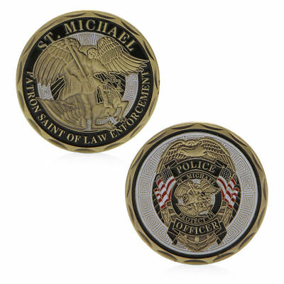 St Michael Police Officer Badge Patron Saint Commemorative Coin Challenge Art
