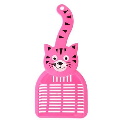 new creative Pelle a litiere de chat plastique de la couleur de rose rouge E7M8