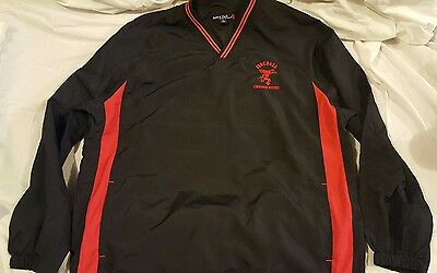 Rare Fireball Whiskey Jacket Black And Red Pullover Windbreaker Sport Tek Men XL