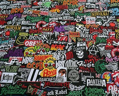 Mix Lot of 25 Iron On Patch Sew Wholesale Music Band Metal Punk Rock n Roll #25