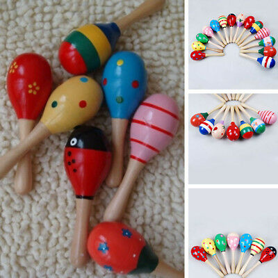 Sound Baby Toys Toddler Musical Wooden Boys Ball Instrument Handbell Rattle