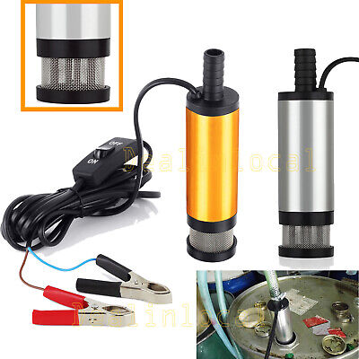 38mm 12v Aluminium Submersible Transfer Pump Fuel Diesel Water Oil FAST POST AU