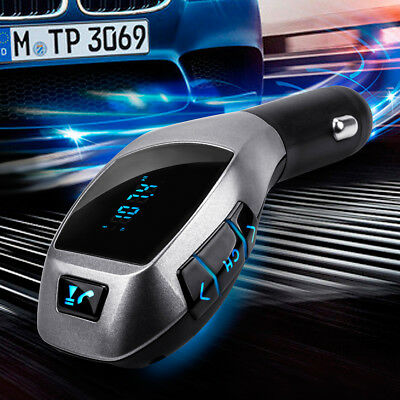 12V Bluetooth Car Kit MP3 Wireless FM Transmitter USB SD LCD Charger Handsfree