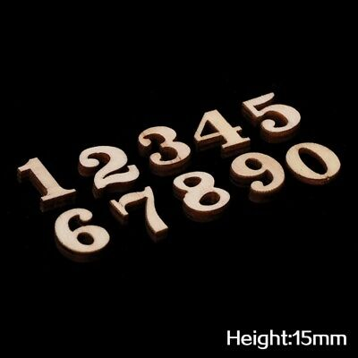 100x Natural Blank Unfinished Wooden 0-9 Arabic Numbers for Kids Craft Toys