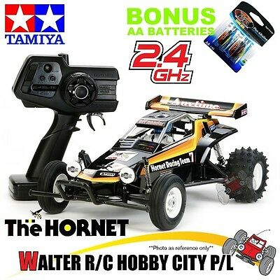 TAMIYA The Hornet Ready to Run 57741 1:10th 2.4GHz Free Shipping + AA Batteries