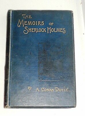 The Memoirs of Sherlock Holmes Conan Doyle 1st Edition and 1st issue 1894 Rare