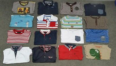 Boys bundle 18-24 months. 16 long and short sleeve tops. Next, George, Tu, Boden
