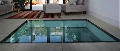 Walk on Glass Any Size, Bespoke, price quoted 33mm, thicker glass available