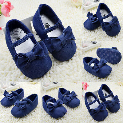 Toddler Soft Bottom Shoes Infant Baby Girls Denim Cotton Shoes Prewalker 0-18M