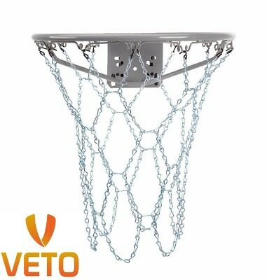 Basketball Metal Chain Net Heavy Duty 12 Loop Steel Official Size Rims Goal Hoop