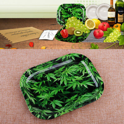 Tinplate Cigarette Rolling Tray Tobacco Smoke Herb Essential Storage Accessories