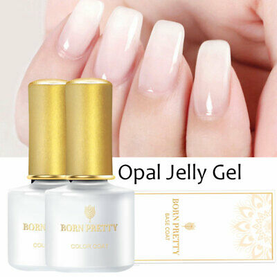 10ml Nail Art Opal Jelly Gel White Soak Off UV Gel Polish Varnish BORN PRETTY