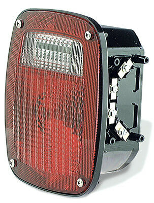 Grote 83958 Torsion Mount 3-Stud GMC Stop/Tail/Turn Lamp, 12 V, Red