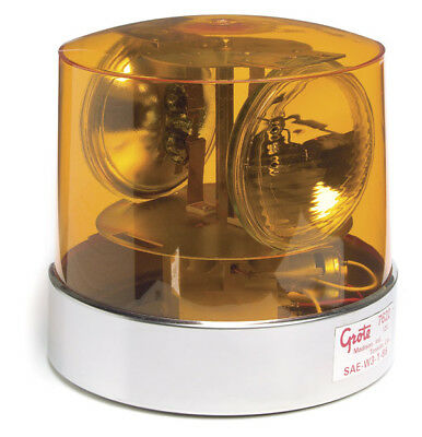 Grote 84015 360 2-Sealed Beam Roto-Beacon Lamp, 12 V, Yellow
