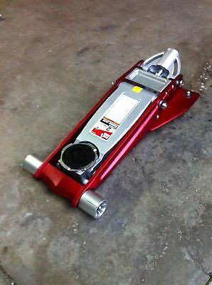 Trolley Jack Low Profile aluminum garage floor rally race alloy car New red