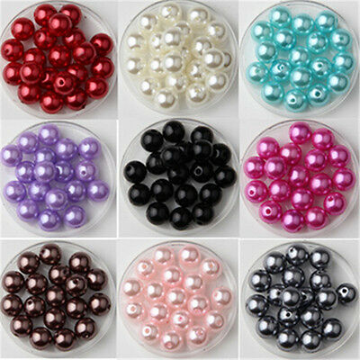 Wholesale 3-14mm Mixed Color ABS Plastic Pearl With Hole Beads Accessories DIY