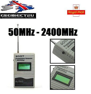 GY560 Two Way Radio Portable 50MHz-2400MHz Frequency Counter Meter NEW 2017 UK