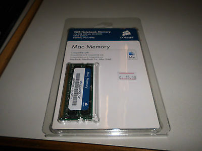 CORSAIR 2GB DDR2 667 (PC2 5300) Memory Apple Notebook Model VSA2GSDS667D2