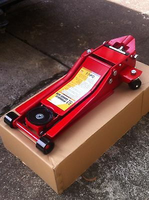 Trolley Jack Extra Low Profile Twin Pump 70mm Low Garage Race Car 2T BRAND NEW