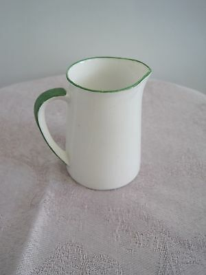 Foley China small cream jug White with green trim very cute