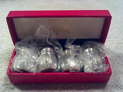 NIB, Swertfager's Greeley House, Pewter Salt and Pepper 2 sets. In Box