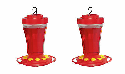 2-Pack First Nature 3090 Hummingbird Nectar Flower Feeder Made in the USA 32 oz.