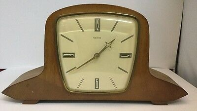 RARE - STUNNING FOOTED SMITHS ANTIQUE ART DECO MANTEL MANTLE CLOCK. Mechanical
