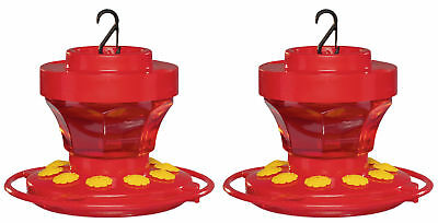 First Nature 3091 2-Pack 16 Ounce Hummingbird Nectar Flower Feeder with Easy Cle