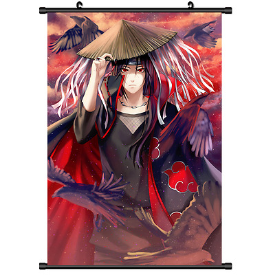 Anime Naruto Uchiha Itachi home decor Wall Scroll Poster cosplay 2722