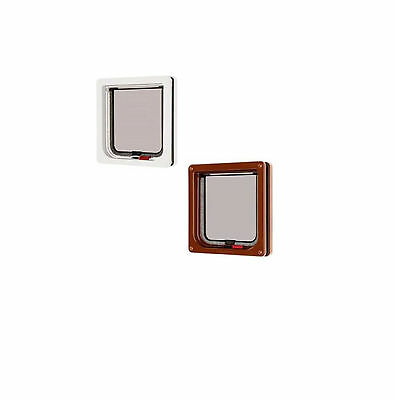 Petmate Cat mate cat flap pet door white brown 304W 304B lockable catflap