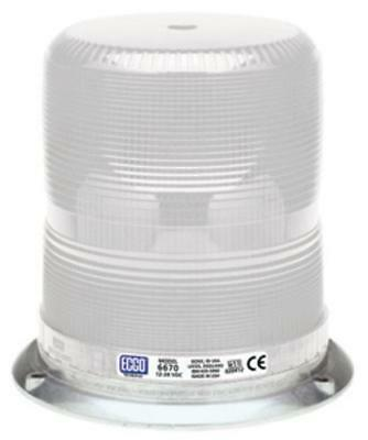 Ecco 81597 6600-Series Medium Profile Strobe Lamp, 12-24 V, Clear