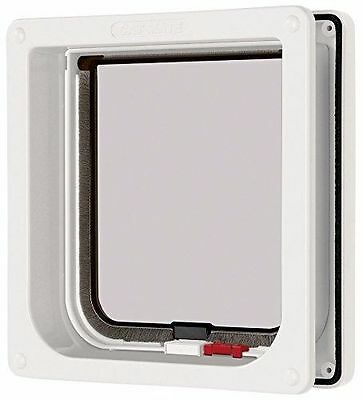 Pet Mate Cat  Mate Lockable Cat Flap with Door Liner -  White, Brown