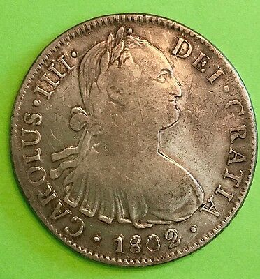 1802 Spanish /Mexico 8 Real Silver Dollar