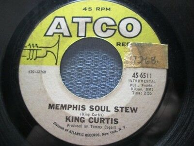 KING CURTIS: Mempis Soul Stew/ Blue Nocturne (45) - Ships WORLDWIDE!