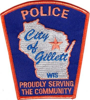 City of Gillett Police Patch Wisconsin WI NEW!!