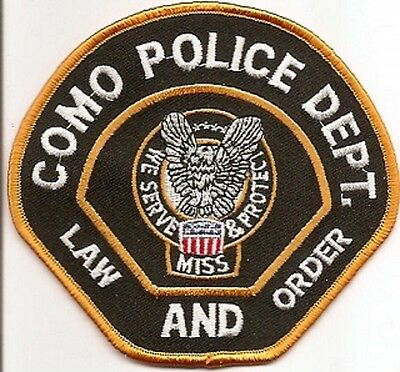 Como Police Patch Mississippi MS NEW!!