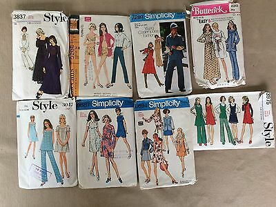 8 1970's DRESS PATTERNS: Style, Simplicity etc. Casual Women's Wear Mixed sizes