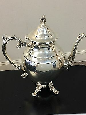 Vintage WM Rogers Footed Silver Plate Tea Coffee Pot